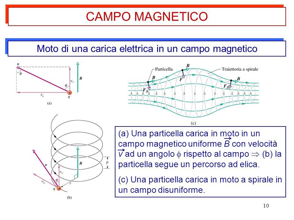 Moto di una carica elettrica in un campo magnetico