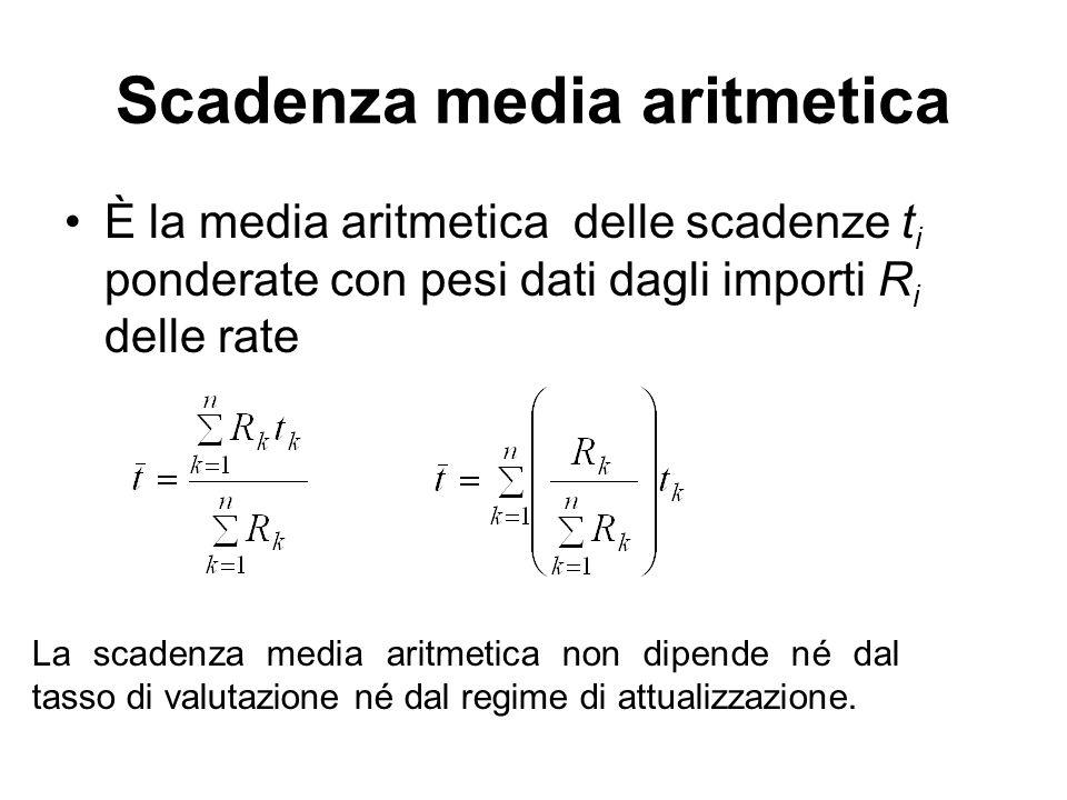 Scadenza media aritmetica