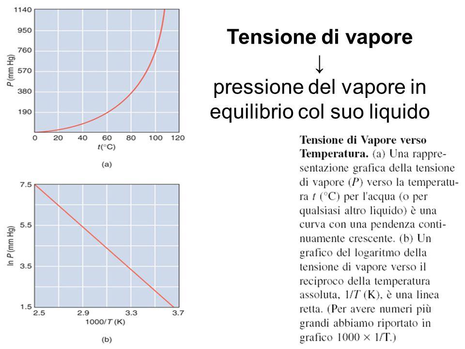 Tensione di Vapore verso Temperatura