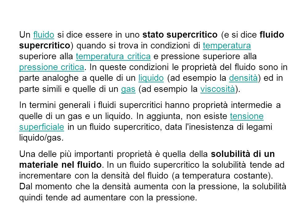 Un fluido si dice essere in uno stato supercritico (e si dice fluido supercritico) quando si trova in condizioni di temperatura superiore alla temperatura critica e pressione superiore alla pressione critica. In queste condizioni le proprietà del fluido sono in parte analoghe a quelle di un liquido (ad esempio la densità) ed in parte simili e quelle di un gas (ad esempio la viscosità).