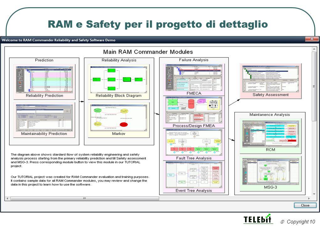 RAM e Safety per il progetto di dettaglio