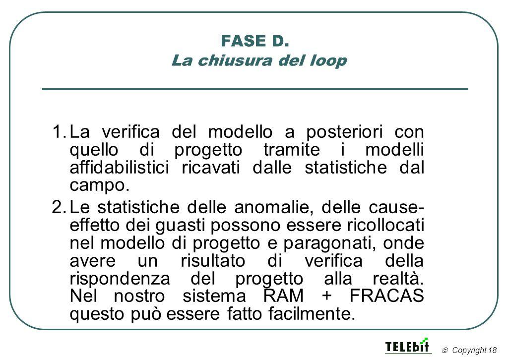 FASE D. La chiusura del loop