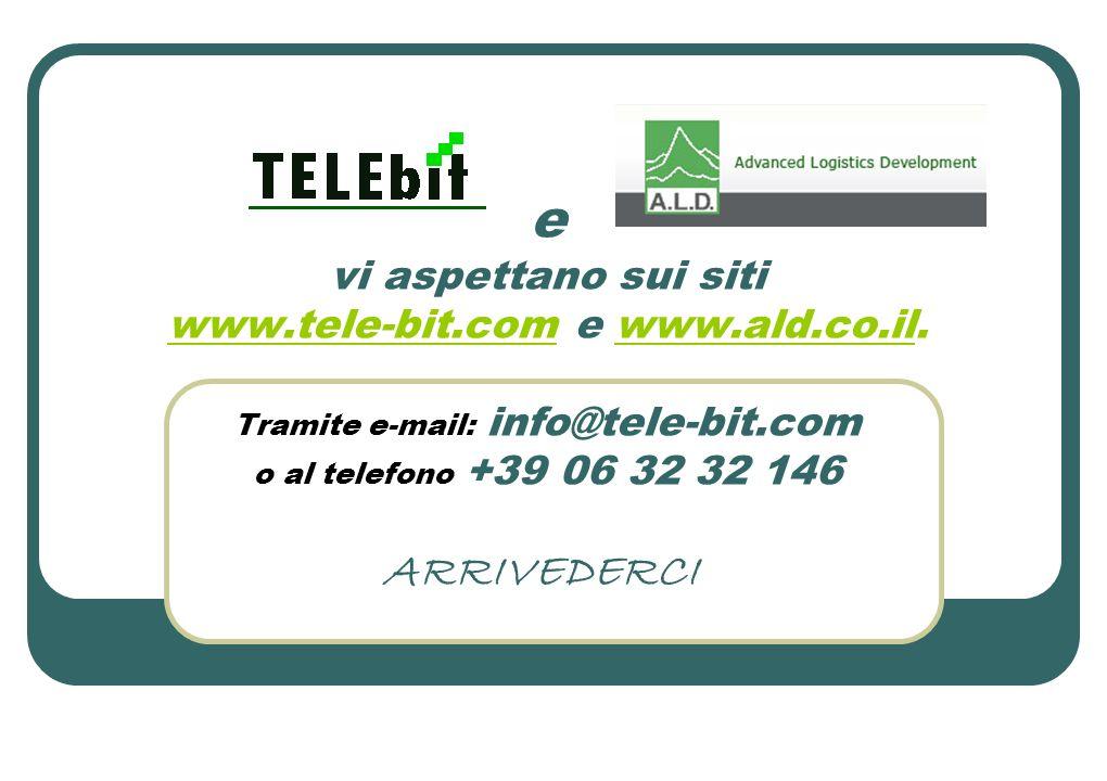 e vi aspettano sui siti www. tele-bit. com e www. ald. co. il