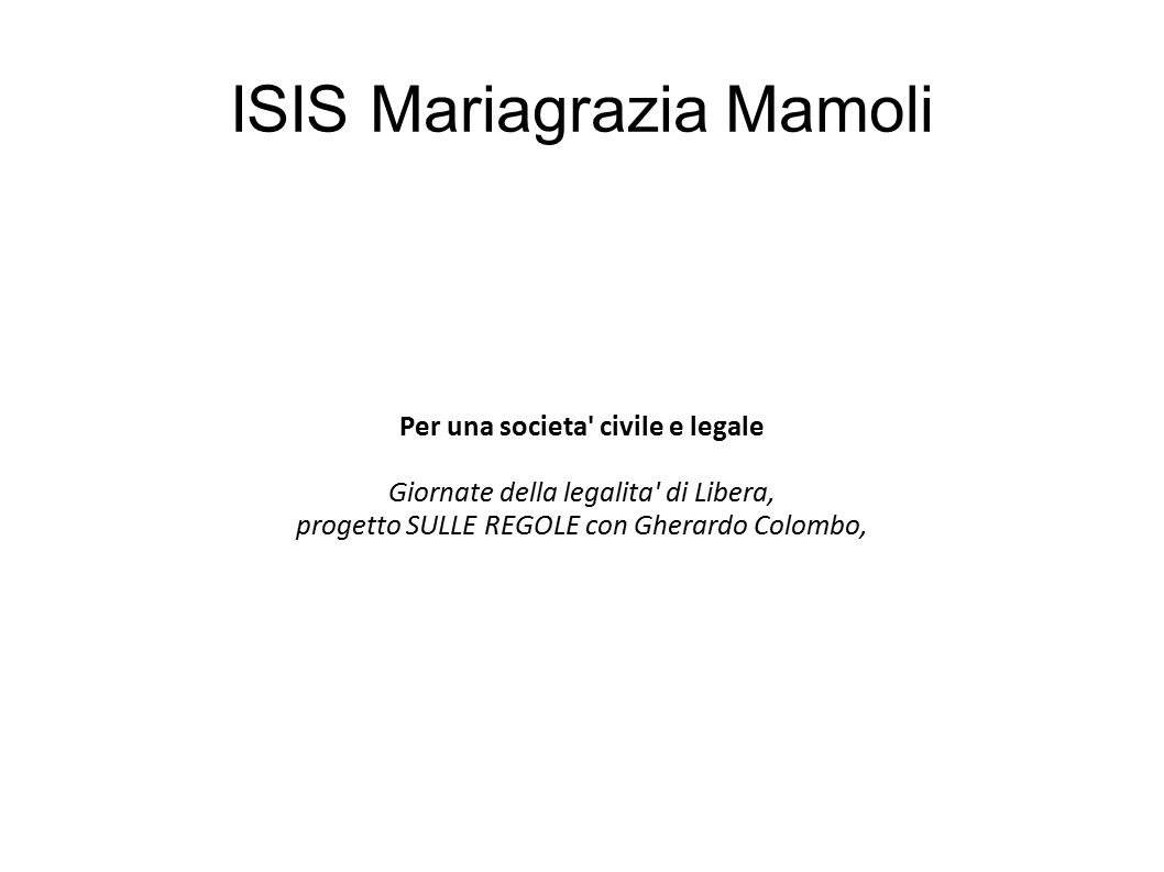 ISIS Mariagrazia Mamoli
