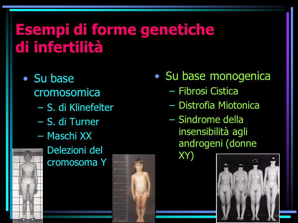 Esempi di forme genetiche di infertilità