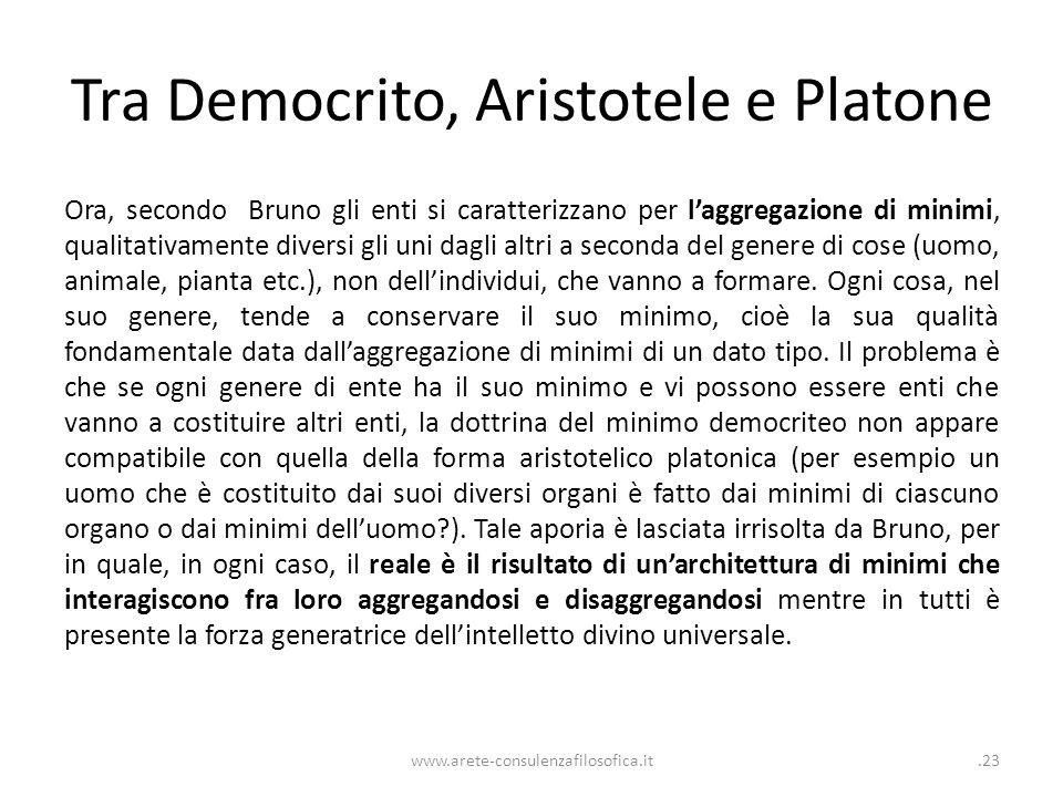Tra Democrito, Aristotele e Platone