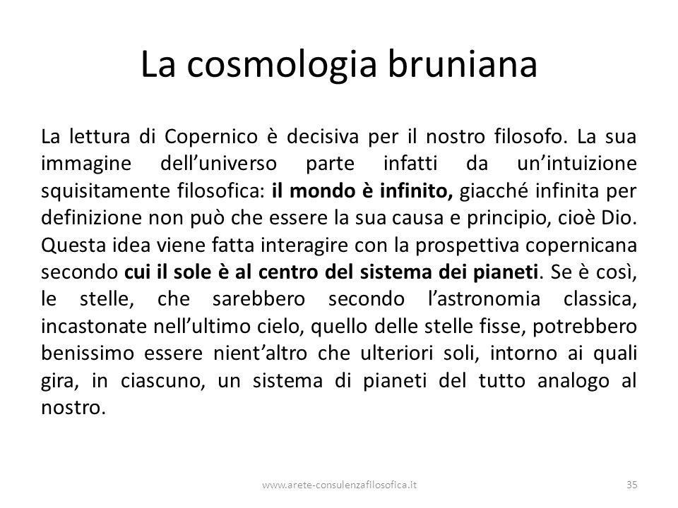 La cosmologia bruniana