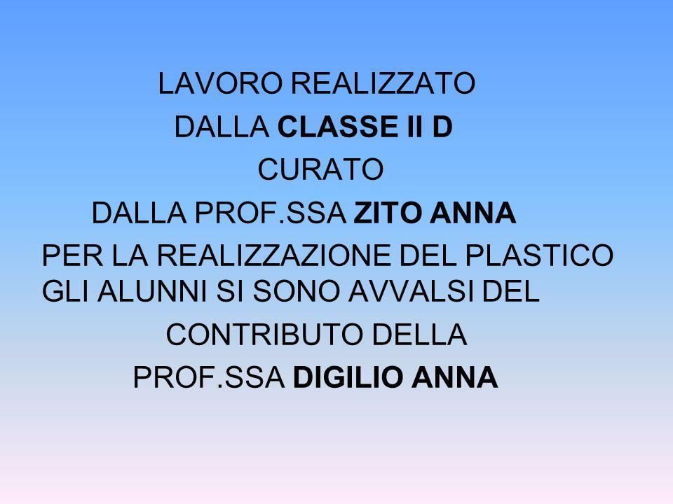 LAVORO REALIZZATO DALLA CLASSE II D CURATO DALLA PROF
