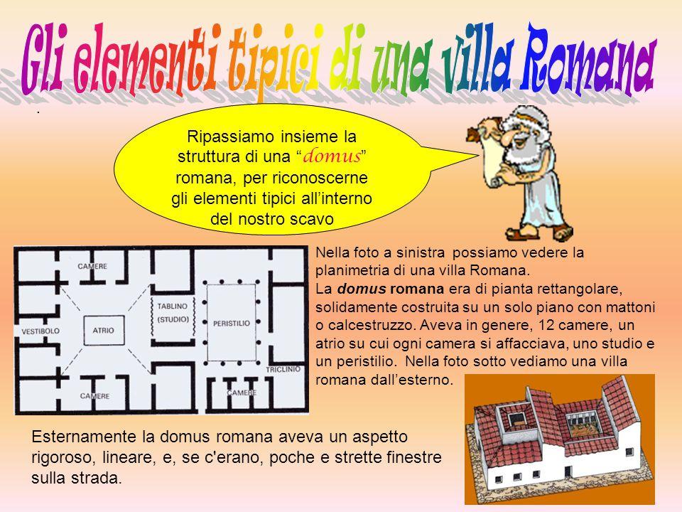 Gli elementi tipici di una villa Romana