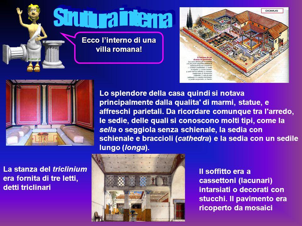 Ecco l'interno di una villa romana!