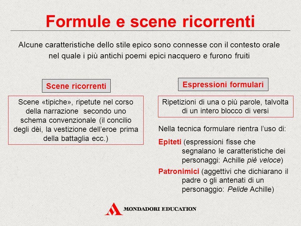 Formule e scene ricorrenti