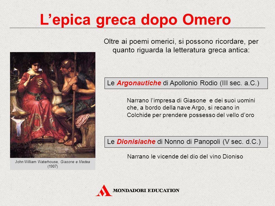L'epica greca dopo Omero