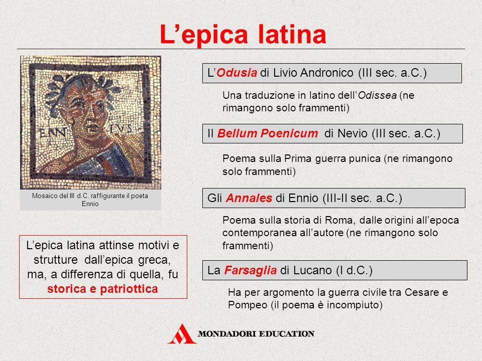 Mosaico del III d.C. raffigurante il poeta Ennio
