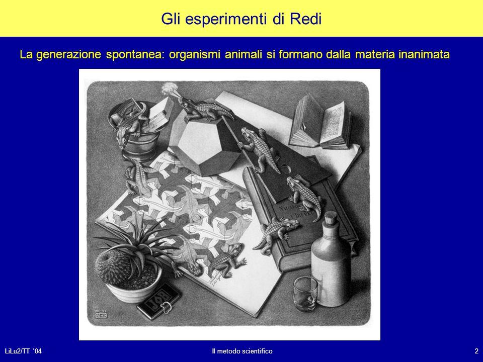 Gli esperimenti di Redi