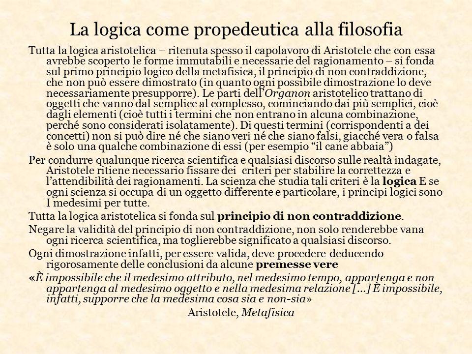 La logica come propedeutica alla filosofia