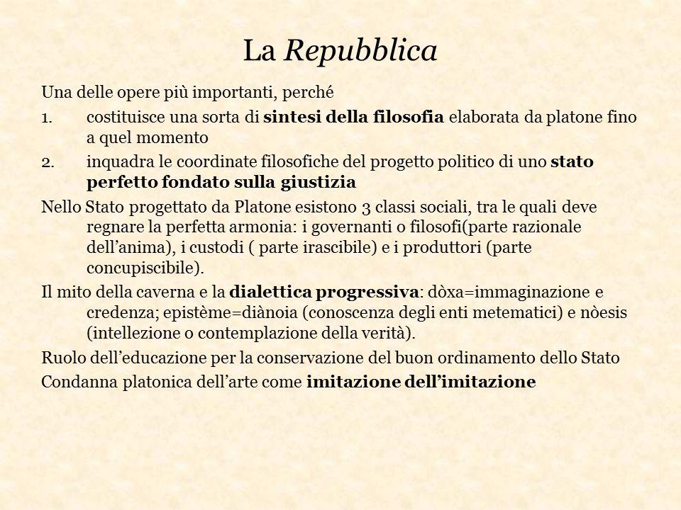 La Repubblica Una delle opere più importanti, perché