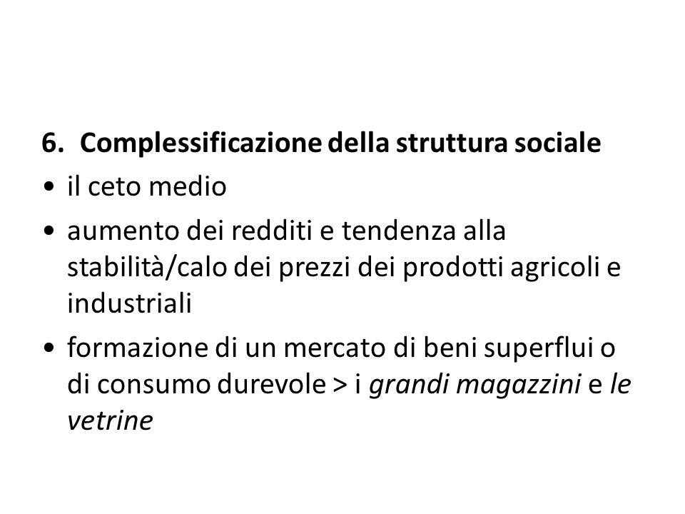 Complessificazione della struttura sociale