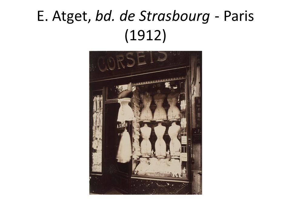 E. Atget, bd. de Strasbourg - Paris (1912)