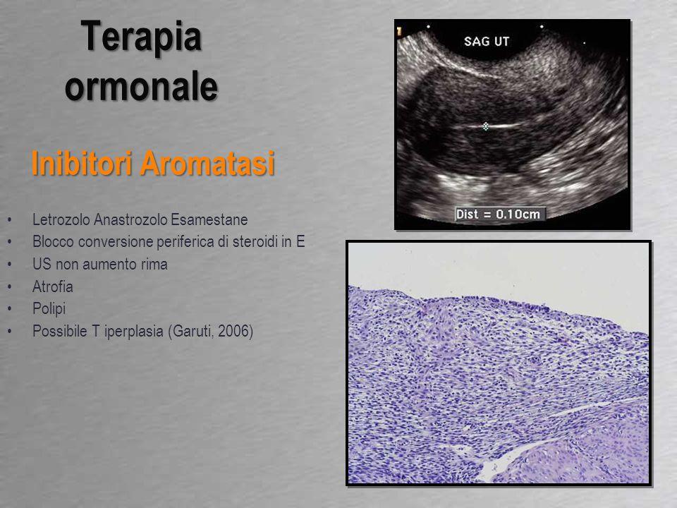 Terapia ormonale Inibitori Aromatasi Letrozolo Anastrozolo Esamestane