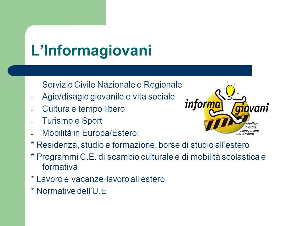 L'Informagiovani Servizio Civile Nazionale e Regionale