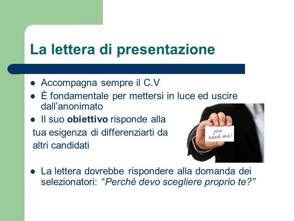 La lettera di presentazione