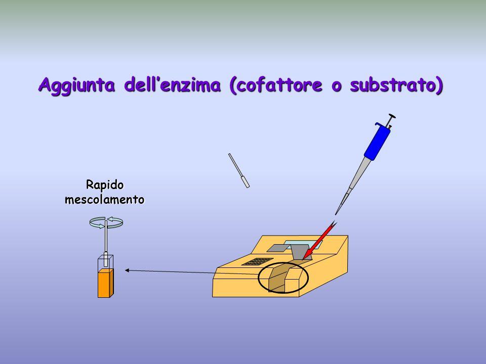 Aggiunta dell'enzima (cofattore o substrato)