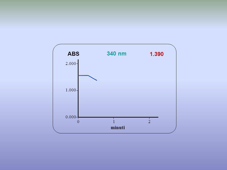                    ABS 340 nm 1.390 minuti 2.000