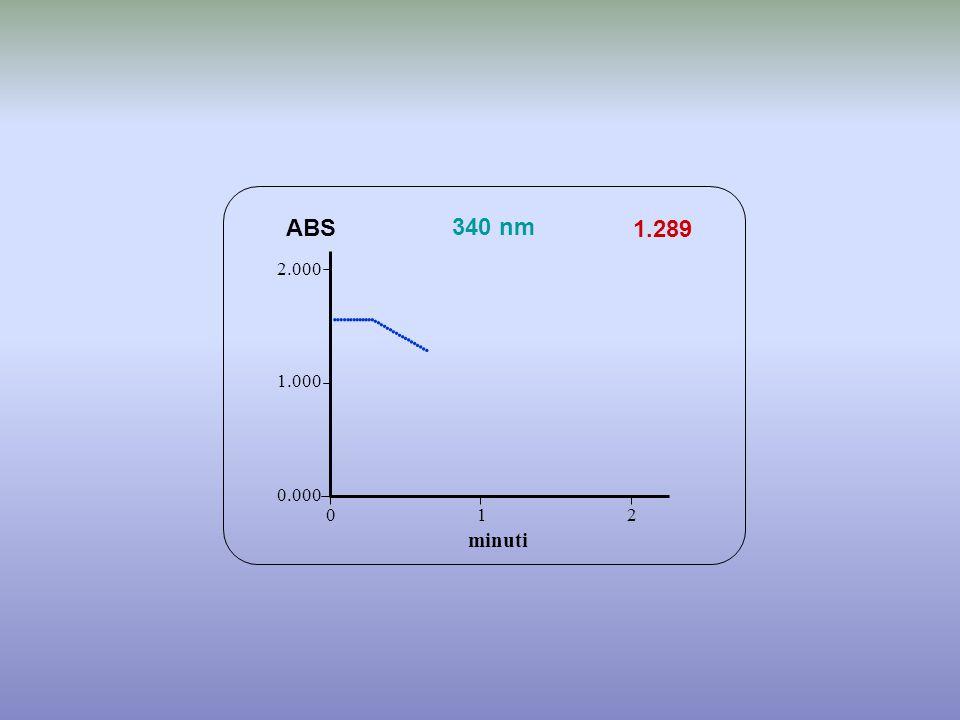                       ABS 340 nm 1.289 minuti