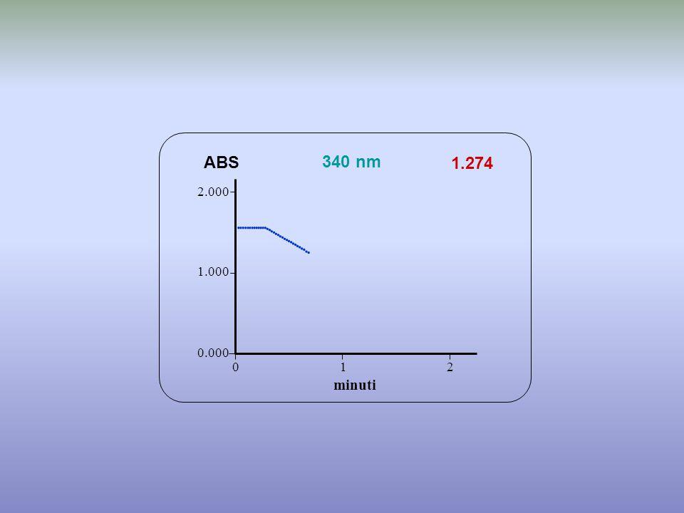                        ABS 340 nm 1.274 minuti