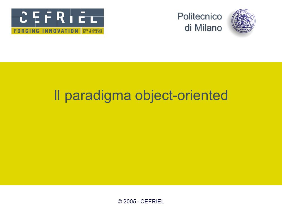 Il paradigma object-oriented
