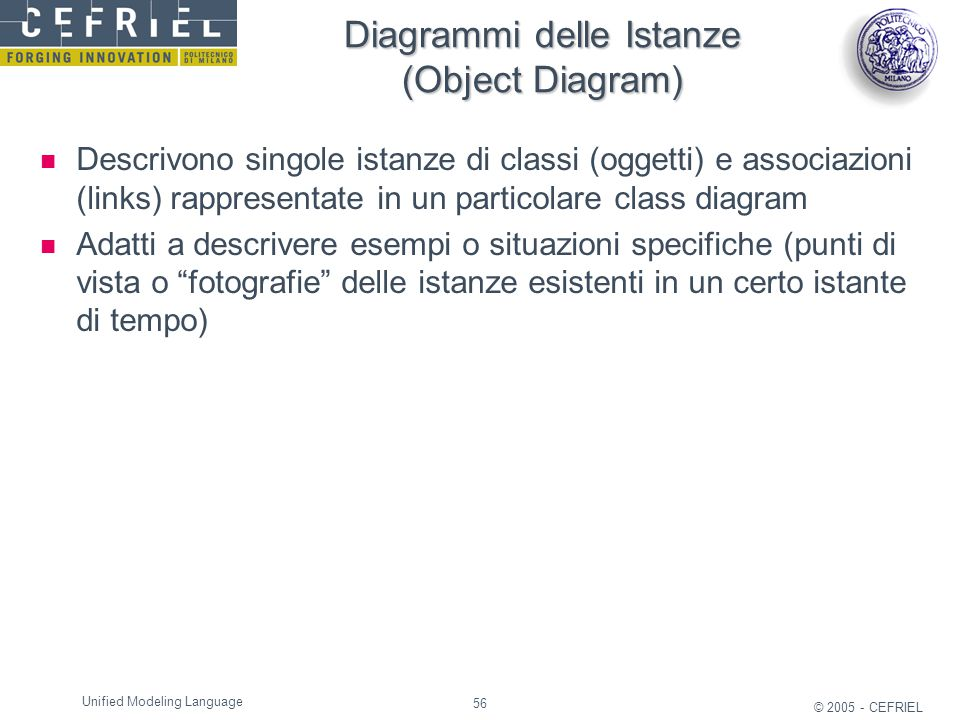 Diagrammi delle Istanze (Object Diagram)