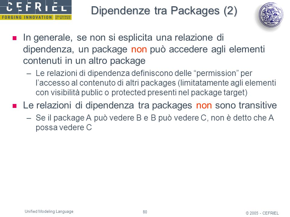 Dipendenze tra Packages (2)