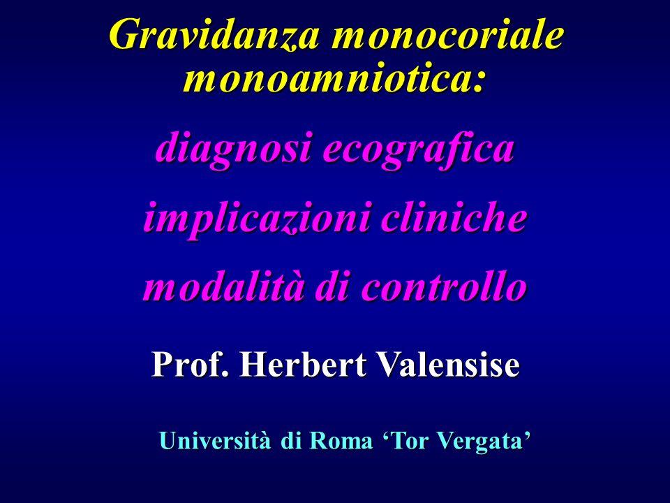 Gravidanza monocoriale monoamniotica: diagnosi ecografica
