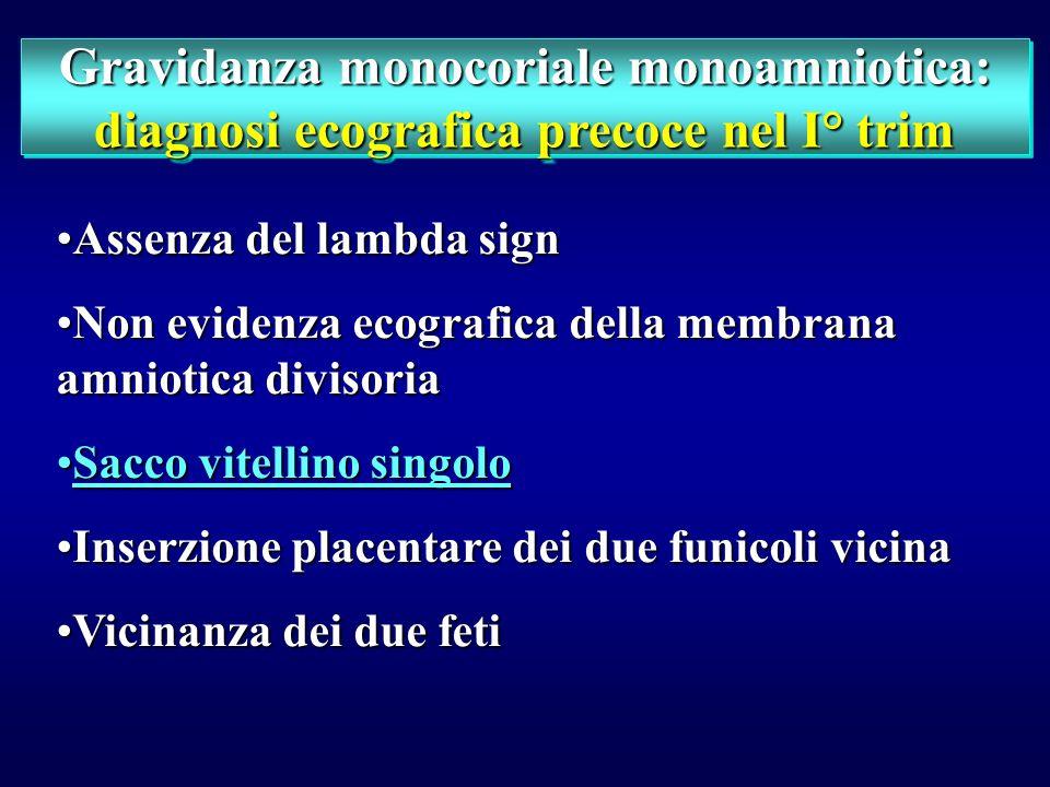 Gravidanza monocoriale monoamniotica: