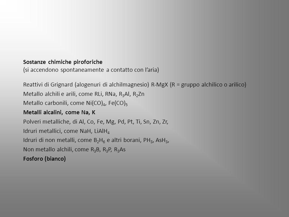 Sostanze chimiche piroforiche