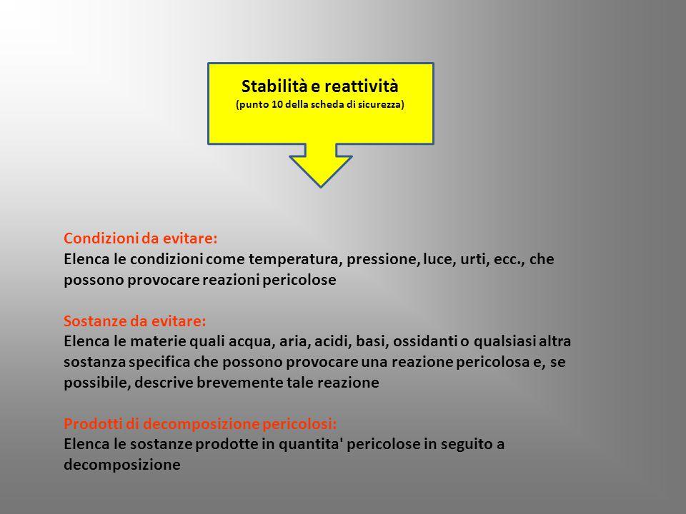 Stabilità e reattività