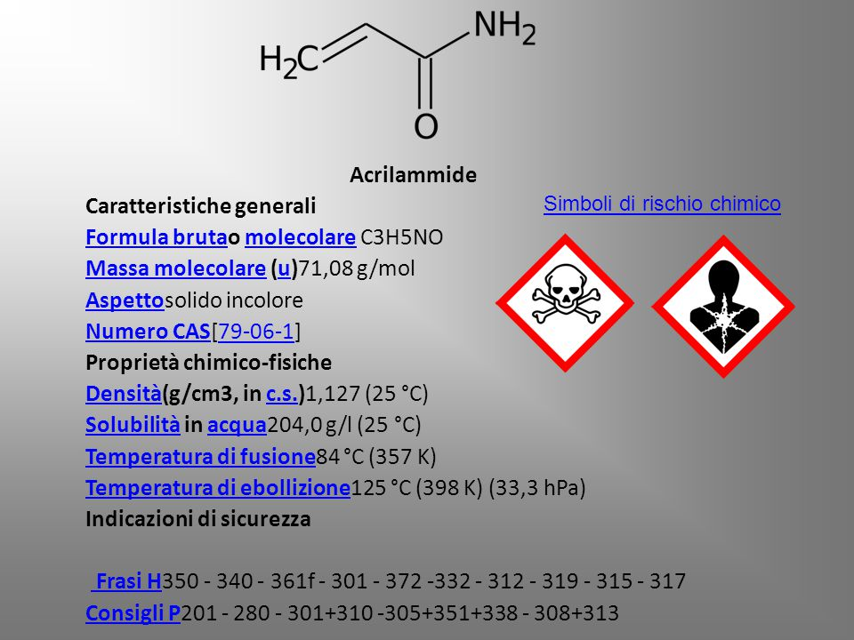 Caratteristiche generali Formula brutao molecolare C3H5NO