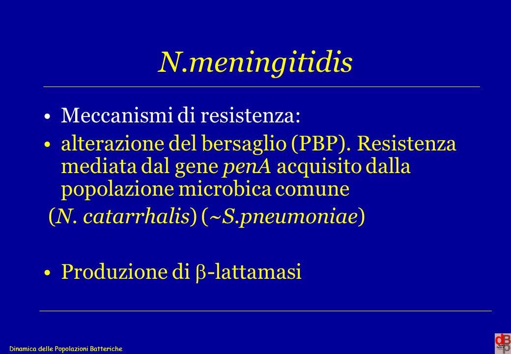 N.meningitidis Meccanismi di resistenza: