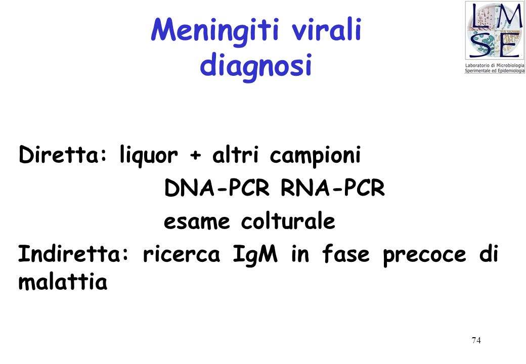 Meningiti virali diagnosi