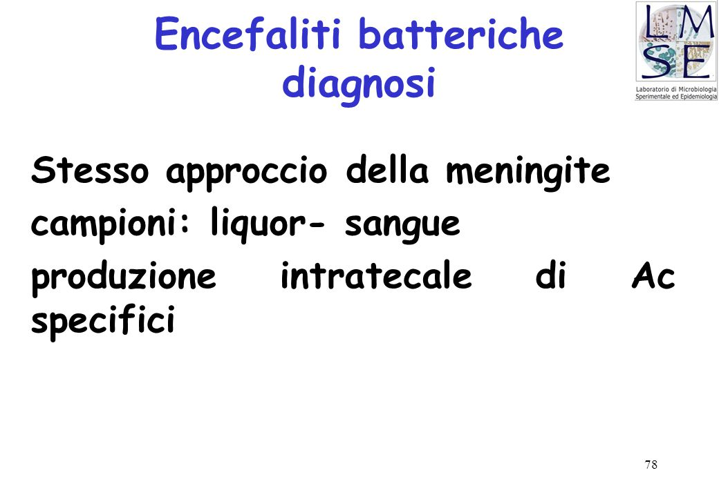 Encefaliti batteriche diagnosi