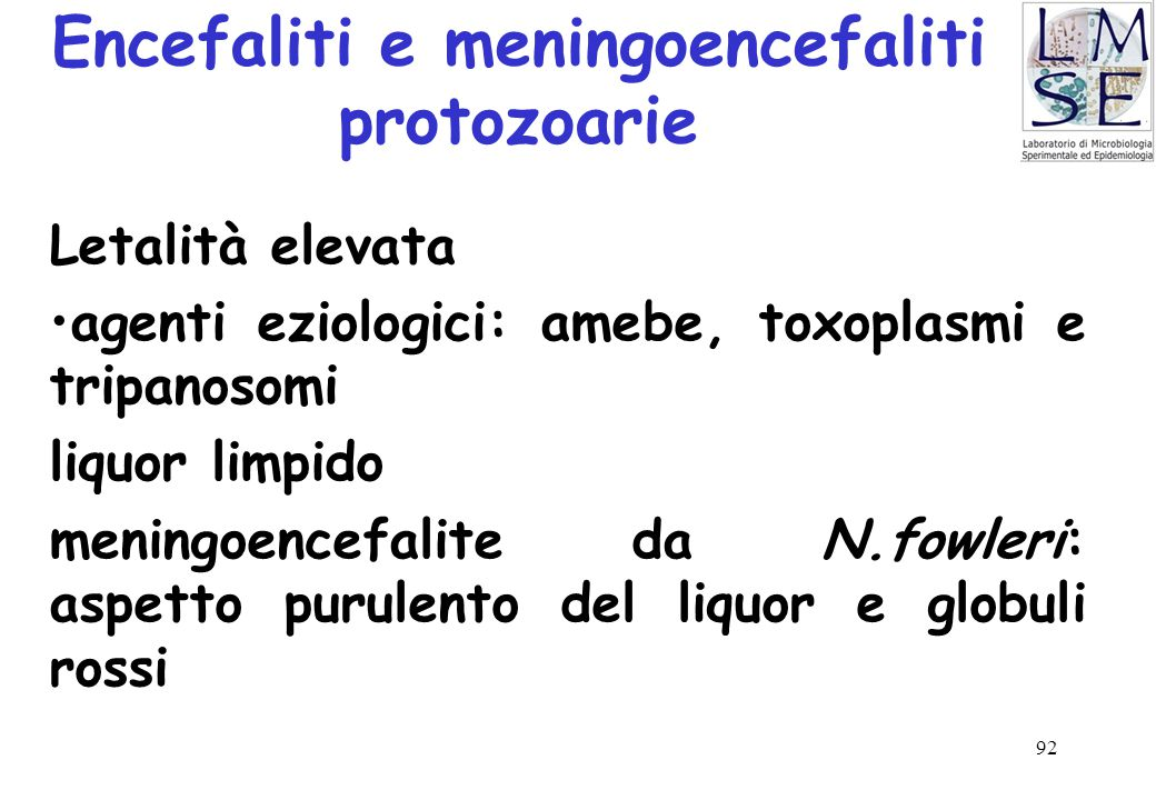Encefaliti e meningoencefaliti protozoarie