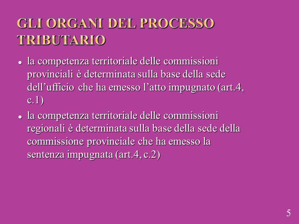 gli organi del processo tributario