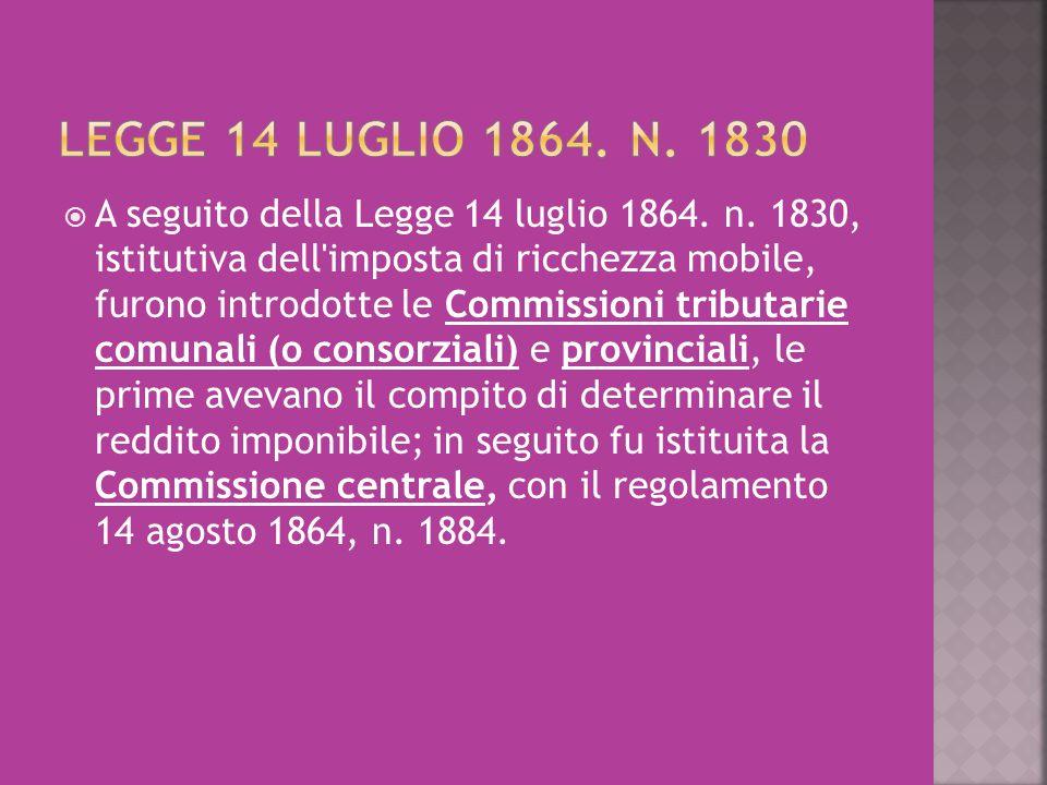 Legge 14 luglio 1864. n. 1830