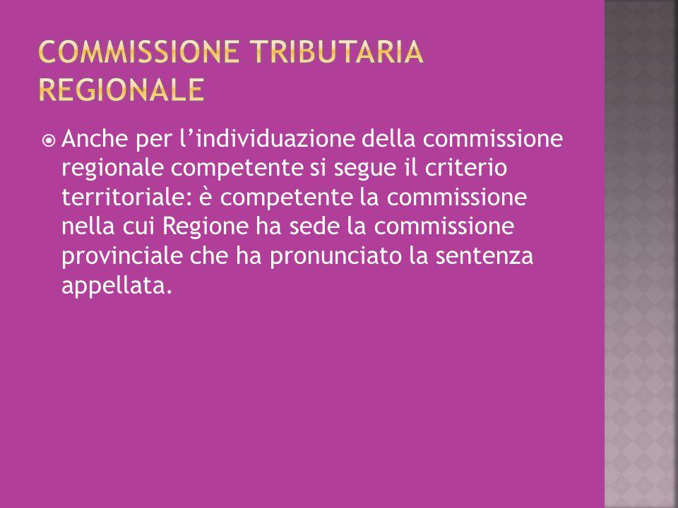 Commissione tributaria regionale
