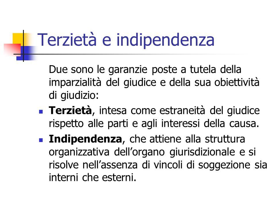 Terzietà e indipendenza