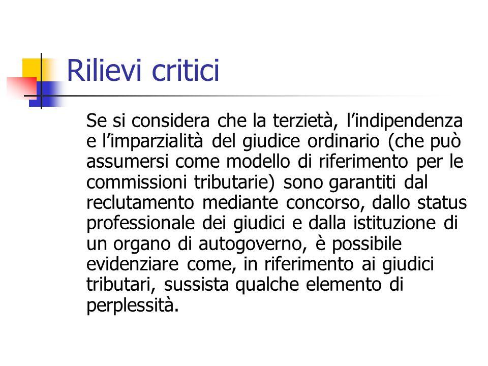 Rilievi critici