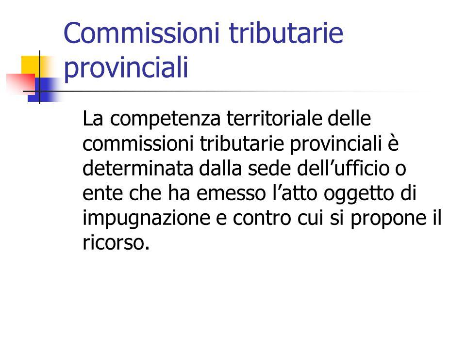 Commissioni tributarie provinciali