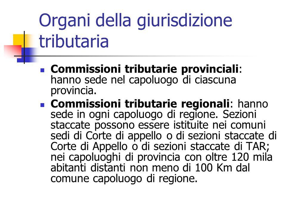 Organi della giurisdizione tributaria