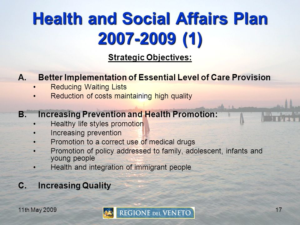 Health and Social Affairs Plan 2007-2009 (1)