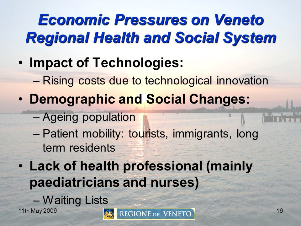 Economic Pressures on Veneto Regional Health and Social System